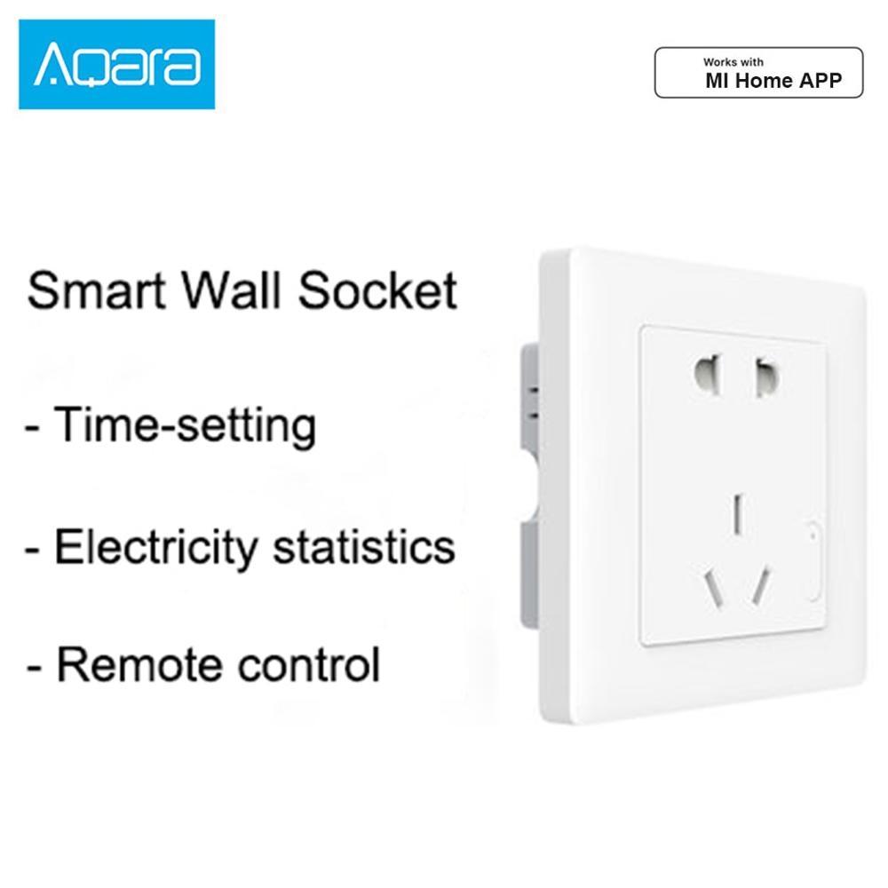 Aqara Smart Wall Socket ZigBee Wireless Wall Outlet Mijia Wall Socket Switch Work With Aqara Gateway Hub For Xiaomi Mi Home APP