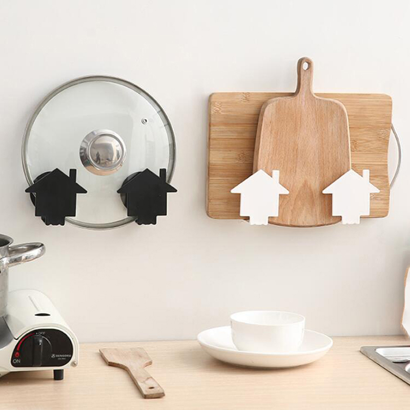 Wall-mounted Pot Rack Wall Free Punching Cutting Board Rack Kitchen Pot Lid Cutting Board Rack Rack Storage Rack For Kithchen