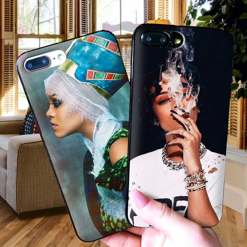 Gợi cảm Rihanna Cho Iphone X XR XS MAX Mềm Mại Ốp Lưng Silicone Dùng Cho Máy Apple iPhone 8 7 6 S 6 S Plus Ốp Lưng Điện Thoại