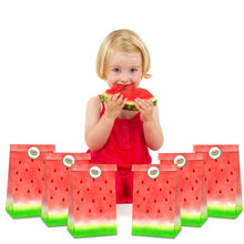 Happy Birthday Watermelon Gifts Candy Bags Party Decorations Thank You Paper Gifts Bags Watermelon Stickers Kids Party Favors