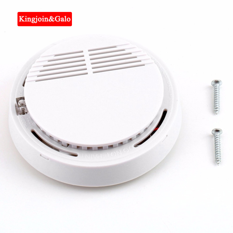 KJ&GALO 85dB Fire Smoke Detector Protection Alarm Sensor Independent Cordless Smoke Monitor For Home Office Security Family