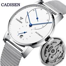 CADISEN męskie zegarki mewy Movt automatyczny zegarek mechaniczny moda Sport data zegarek męski wodoodporny zegar Reloj Hombre tanie tanio AIMIMO DESIGN 3Bar CN (pochodzenie) Składane bezpieczne zapięcie BIZNESOWY Mechaniczna nakręcana wskazówka Samoczynny naciąg