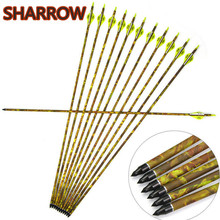 6/12pcs 32 Archery Carbon Arrow SP 600 Hunting Arrows Replaceable Broadhead For Bow Outdoor Shooting Accessories