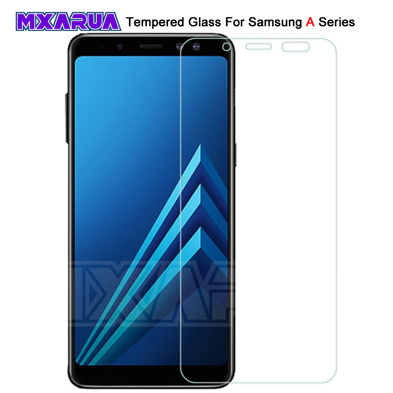 9H Tempered Glass On For Samsung Galaxy A7 A5 A3 2017 2016 2015 Screen Protector For Samsung A6 A8 Plus A9 2018 Protective Film