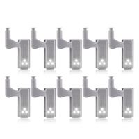 10 Uds armario bisagra LED luz inteligente Sensor lámpara blanco frío|Luces para armario|   -