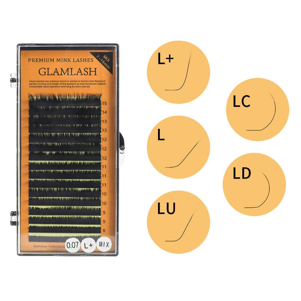 L/L +/LC/LD/M/N локон 7-15 мм 16 рядов индивидуальный объем классические ресницы искусственные норковые ресницы для наращивания искусственные накладные ресницы