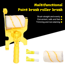 Paint Roller Cover Set Roller Naps with Brush Tool Home Multfunctional Painting Supplies for All Wall Ceiling Stains Painting