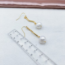Natural Baroque Pearl Women Drop Earrings Genuine Irregular Hanger 14KGF Fashionable Ear Jewelry Femme Brinco(China)