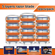 Razor Gillette Blades Men's shaver Fit Fusion 5 For Men Shaving Safety Manual Machine With New Replacement blade Cassettes
