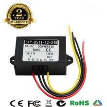 Convertidor de corriente continua, 5V CC, 6V, 7V, 8V, 9V, 10V, 11V a 12V, 2a, 24W, CC, módulo de alimentación de impulso impermeable, inversor de corriente para coche