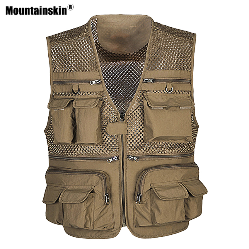 Mountainskin Summer Men's Hiking Vest Sleeveless Jackets Outdoor Sports Breathable Waistcoats Camping Climbing Male Coats VA723 1