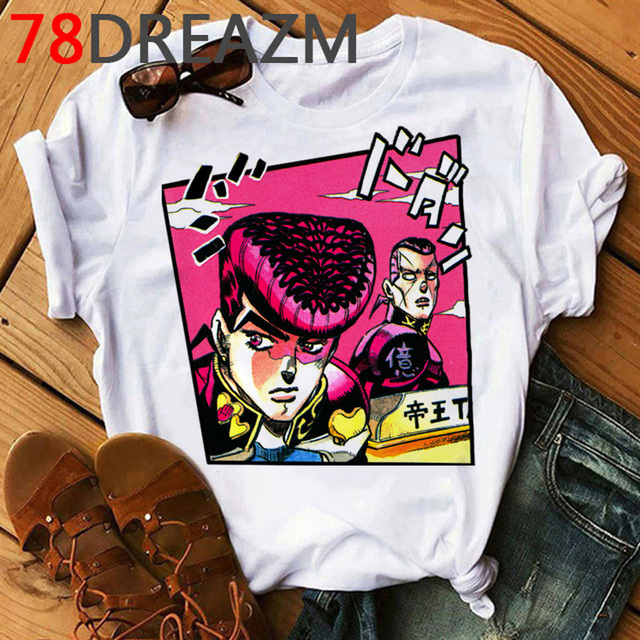 Jojo Bizarre Adventure T Shirt Women Japan Anime Summer Top T-shirt Kawaii Jojo Graphic Tshirt Plus Size Unisex Cartoon Female