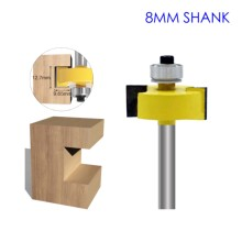 цена на 1pc 8mm Shank T-Sloting Router Bit Bit with Bearing Wood Slot Milling Cutter T Type Rabbeting Woodwork Tool for Wood marcenaria