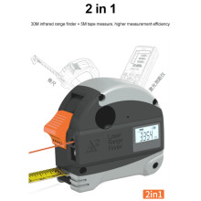 30M Infrared Steel Tape Measure Intelligent Tapeline Laser Rangefinder Digital Electronic High Precision Range Finder