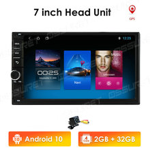 2 Din Autoradio Android 10 Universal 7 Zoll Touch Screen Audio Stereo Bluetooth Wifi FM USB Multimedia MP5 MIC DAB + DVR