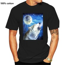 ¡Camiseta de lobo heulend Rudel MondGr! Camiseta de dibujos animados para hombre y mujer, prenda de vestir, con estampado de Cowboy Lobo, tallas S, M, L, XLBiker, nueva moda, Envío Gratis