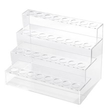 ABUI-Four Layers Cosmetics Nail Polish Rack Display Holder Plastic Box Acrylic Stand Case Lipstick Organizer Storage Nail Art Di(China)