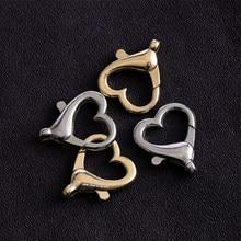 Fermoir homard en alliage pour chaîne principale, crochets fendus pour la fabrication de bijoux, collier, Bracelet, connecteur, 10 pièces/lot