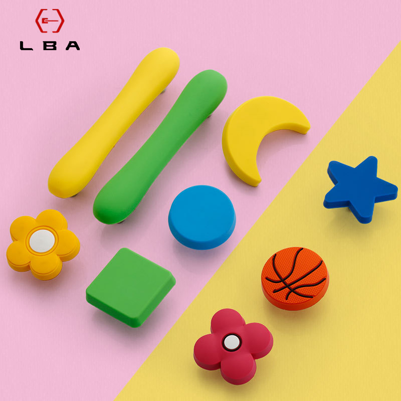 LBA Cartoon Drawer Child Handle Football Basketbal Baseball Personality New Children's Room Bedroom Bedside Table Small Knobs