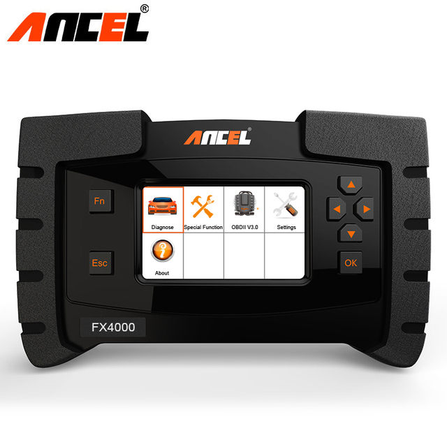Ancel FX4000 OBD2 Auto Diagnostic Scanner Professional Car Tools Live Data Full Systems ABS EPB Oil Service Reset Free Update