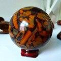 55/65 мм Натуральный Бамбуковый камень хрустальный шар для домашнего декора освежает Исцеление чакры камни энергия нефритовые кристаллы Сфе...