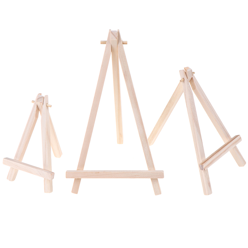 Mini Wood Artist Tripod Painting Easel For Photo Painting Postcard Display Holder Frame Cute Desk Decor Drawing Toys