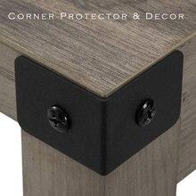 Schwarz und Bronze Farbe Optionen Eisen metall ecke Halterung protector mit freies schrauben für Tisch oder Schrank Top Panel Bein etc