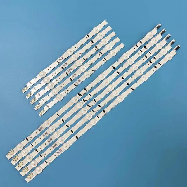 100% yeni 10 adet (5 * 3LED + 5 * 6LED) UE40H6500 CY GH040CSLV5H LED şerit D4GE 400DCA R1 R2 D4GE 400DCB R1 R2 553mm + 303mm