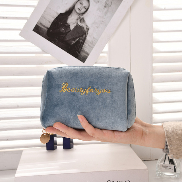 бархатный органайзер для макияжа doozeepa мягкая сумка помады фотография