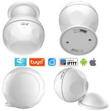NEO COOLCAM Wi fi Inteligente Suporte do Sistema de Alarme PIR Sensor De Movimento com suporte ímã Casa IFTTT Smart Home Automation