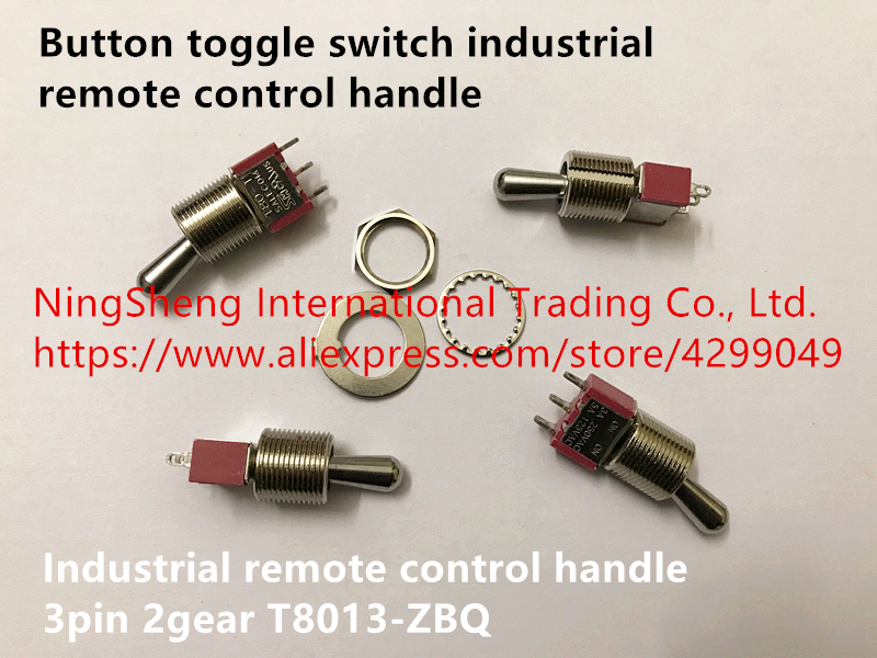 Original new 100% import button toggle switch industrial remote control handle 2file 3pin <font><b>T8013</b></font>-ZBQ image