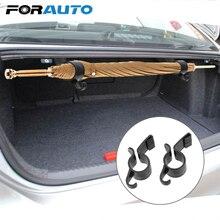 FORAUTO 2 шт. держатель для зонта зажим крючки органайзер для багажника Авто Автомобильный задний багажник Монтажный кронштейн крючок для полотенец Зонт зажим для подвешивания