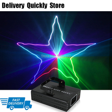 цены Professional DJ Laser Show RGB 3 IN 1 Full Color Patterns Projector Stage Effect Lighting for Disco Xmas Party 1 head laser