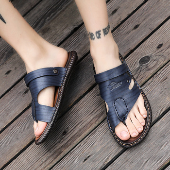 NOVEDAD DE Verano 2020, sandalias de cuero con estilo Para Hombre, zapatos...
