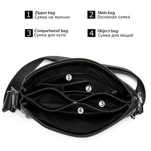 Image 3 - Westal mens shoulder bag for men male solid messenger crossbody bag casual mens bags flaps zipper handbag designer shouler bag