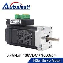 Aubalasti JMC 140W Nema 23 Integrated AC Servo Motor with Driver 36VDC 0.45N.m 3000RPM 6A Mini Servo Motor and Driver