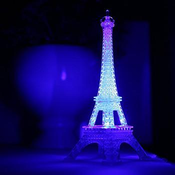 Romantyczna wieża eiffla Led lampka nocna biurko stół Home sypialnia udekoruj ślubna lampa dekoracyjna Gif tanie i dobre opinie ISHOWTIENDA CN (pochodzenie) SALON 2220 PRZEŁĄCZNIK 12 v