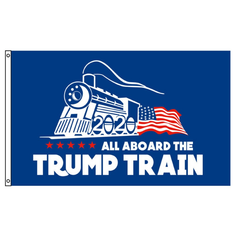 <font><b>Trump</b></font> <font><b>2020</b></font> Flag Double Sided Printed Donald <font><b>Trump</b></font> Flag Keep America Great Donald for President USA Banner 150x90cm image