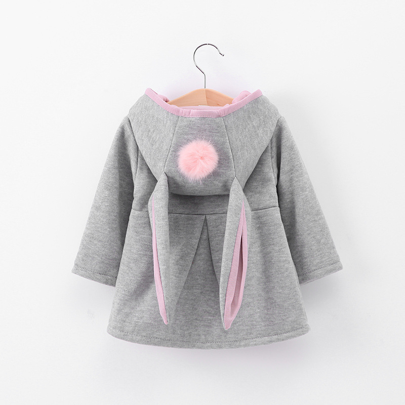 Autumn Winter Girls Coats Coats Warm Long Sleeve Kids Clothing Tops Casual Unisex Solid Baby Clothes for 1 5Y Children Costume in Jackets Coats from Mother Kids