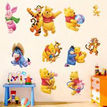 Diy Verwijderbare Winnie De Pooh Muursticker Vinyl Art Decals Nursery Kids Baby Slaapkamer Home Decor