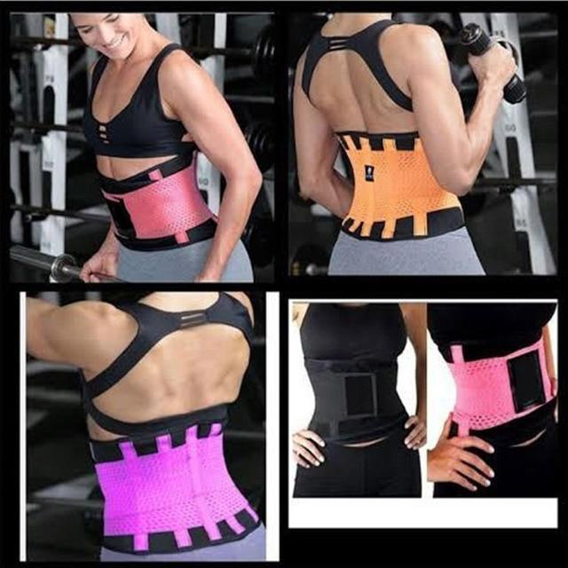 Meihuida Women Trimmer Gym Fitness Sport Shapewear Sweat Belt Waist Cincher Trainer Gym Body Underwear Body Building Shaper 2
