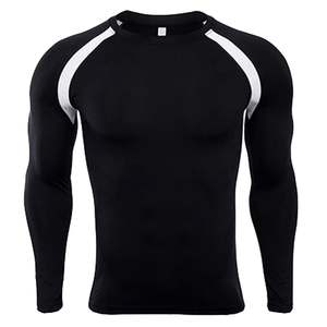 CYSINCOS Long-Sleeved Shirt Tight Rashguard Skin Fitness Thermal-Compression Bodybuilding
