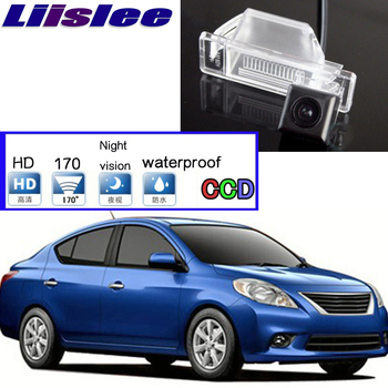 Car Camera For Nissan Sunny 2011~2014 High Quality Rear View Back Up Waterproof Camera For PAL For Tuning | CCD + RCA Connector image