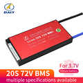 Bms 3.7 bms 30a 40a 50a 60a bateria bms carga tensão 18650 v com equilíbrio 54.6 v bateria de íon de li da e-bicicleta do bloco 20 s 72 v da bateria de v