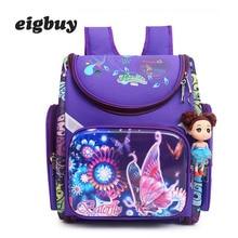School Backpacks Boys Girls Orthopedic 3d Cartoon Butterfly Knapsack Children School Bags Kids Satchel Bag Mochila Escolar цена