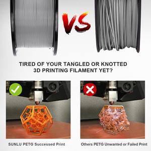 Image 4 - PETG Filament 1kg 1.75mm Tolerance 0.02mm FDM 3D Printer Material with Spool High Strength Non toxic 100% No Bubble Filaments