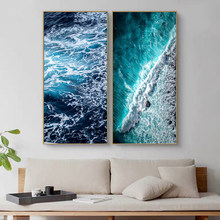 Paintings Wall Decor for Home Design Ocean Water Click Art Nordic Posters and Prints Printed Arts no Frames Pictures Large Size