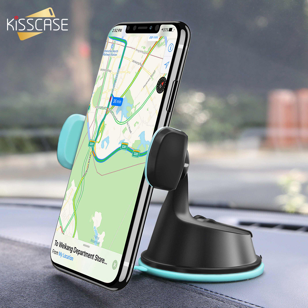 KISSCASE Car Phone Holder Stand Air Vent Mount Stand Windshield Holder Universal For Smart Phone In Car Support Telefon Tutucu