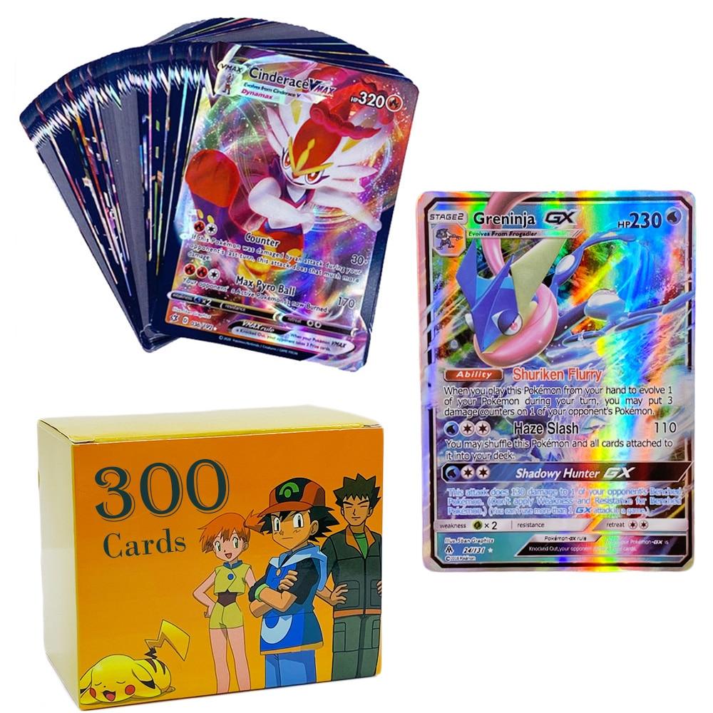 Pokemon 200 V MAX 300 GX meilleure vente enfants bataille Version anglaise jeu Tag équipe brillant Vmax TOMY Pokemon cartes