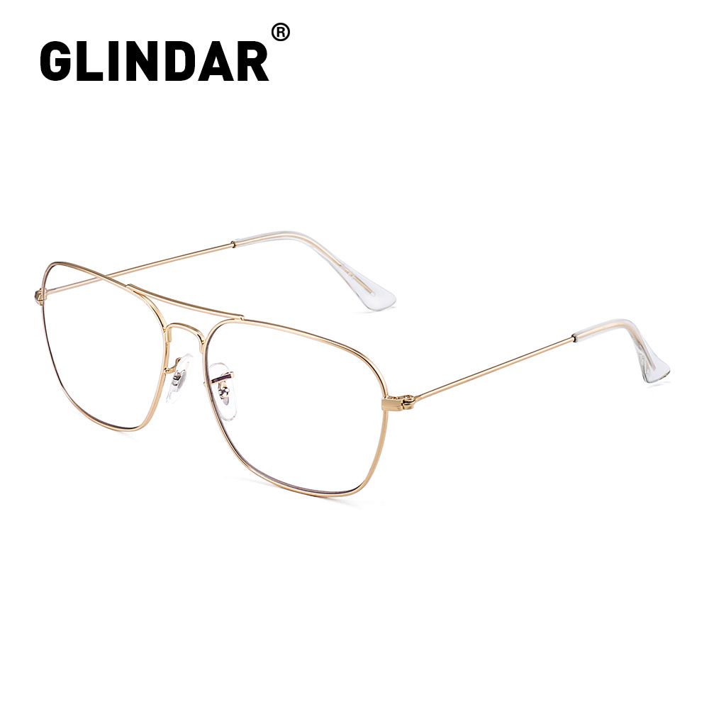 Retro Blue Light Blocking Computer Glasses Square Eye Protect Eyeglasses Vintage Men Women Anti Blue Light Gaming Glasses